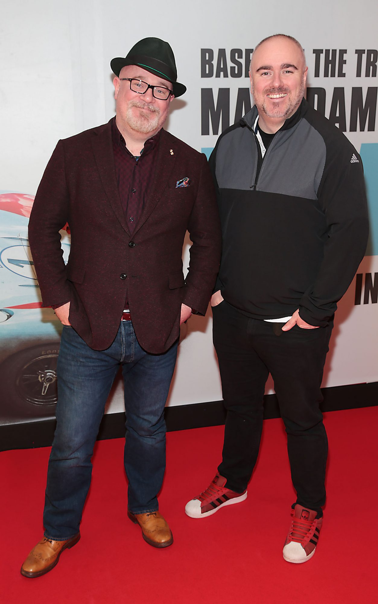 Daithi de Barra and Ger Barry pictured at the special preview screening of Le Mans '66 at Cineworld, Dublin. Photo: Brian McEvoy.
