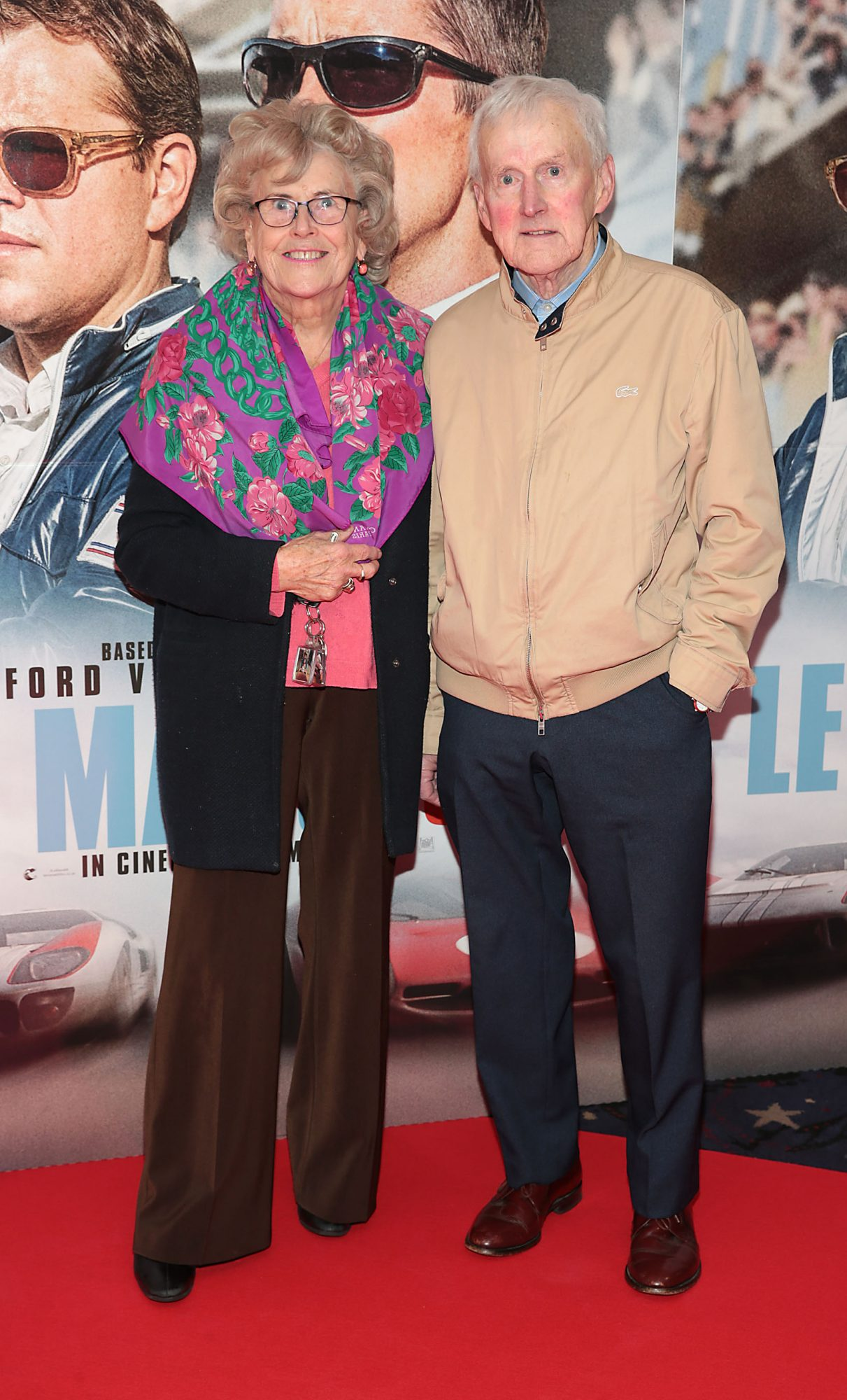 Pat Kearns and Jim Dunne pictured at the special preview screening of Le Mans '66 at Cineworld, Dublin. Photo: Brian McEvoy.