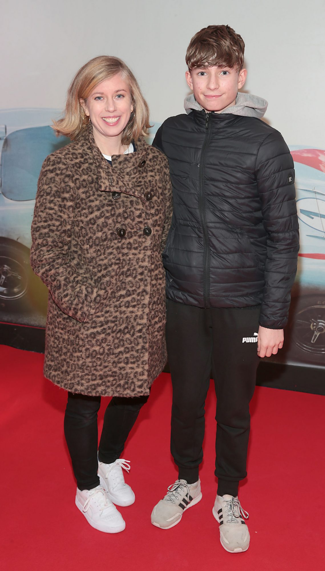 Lesley Conroy and Billy Conroy Roche pictured at the special preview screening of Le Mans '66 at Cineworld, Dublin. Photo: Brian McEvoy.