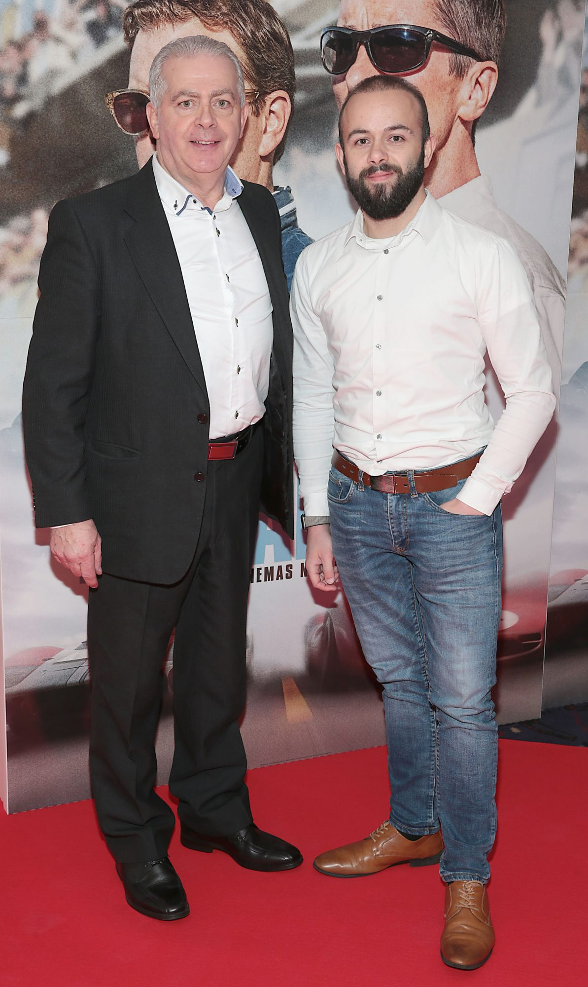 Gerry Eiffe and Ross Eiffe pictured at the special preview screening of Le Mans '66 at Cineworld, Dublin. Photo: Brian McEvoy.