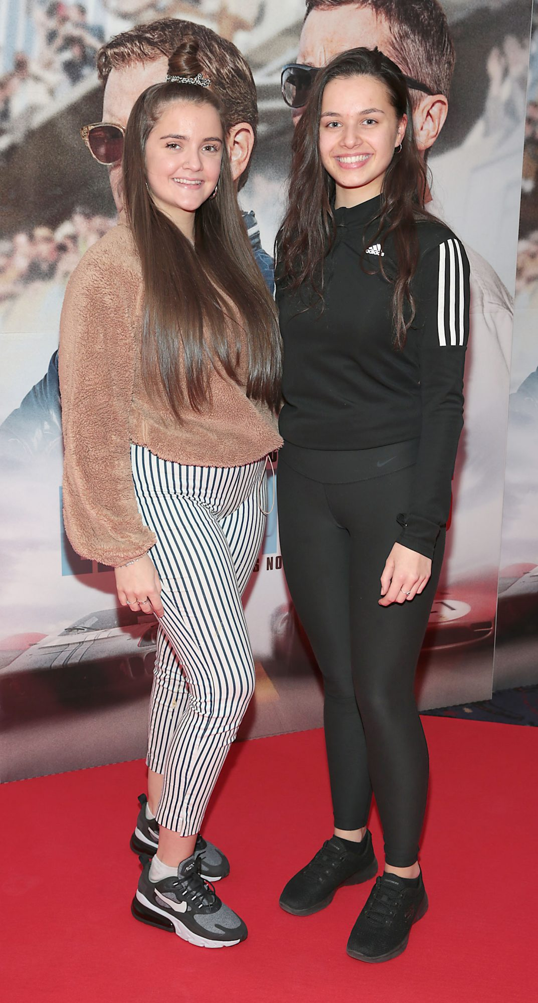Rachel Cummins and Amy Colley pictured at the special preview screening of Le Mans '66 at Cineworld, Dublin. Photo: Brian McEvoy.