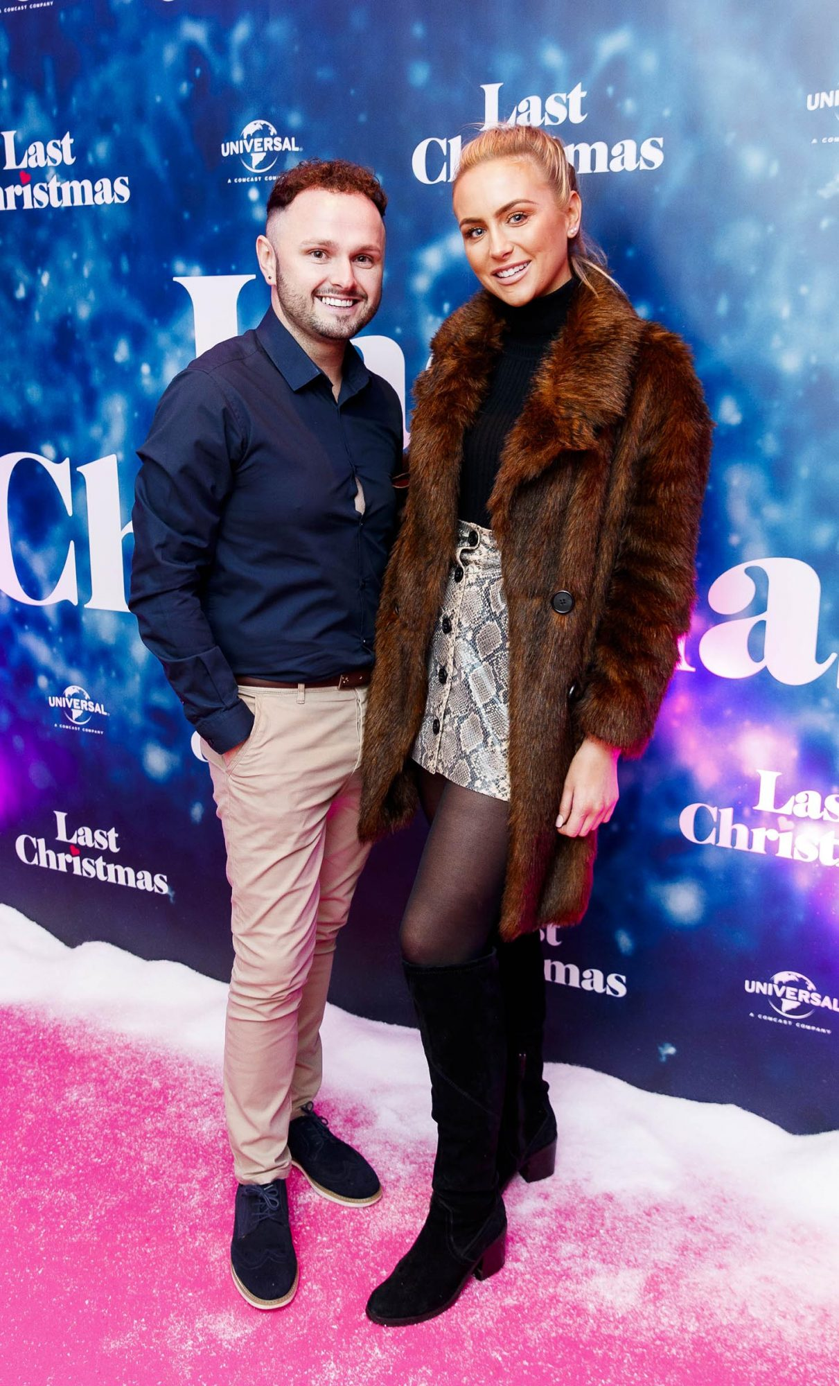 Michael Gibney and Shannon Howe pictured at the Universal Pictures Irish premiere screening of Last Christmas at the Light House Cinema, Dublin.  Picture: Andres Poveda