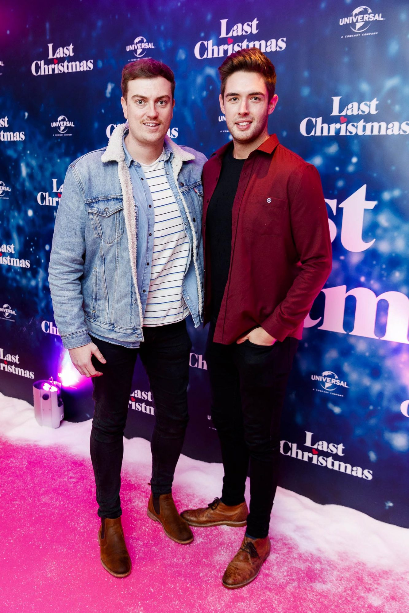 Alan Cawley and Peter Lynch pictured at the Universal Pictures Irish premiere screening of Last Christmas at the Light House Cinema, Dublin.  Picture: Andres Poveda