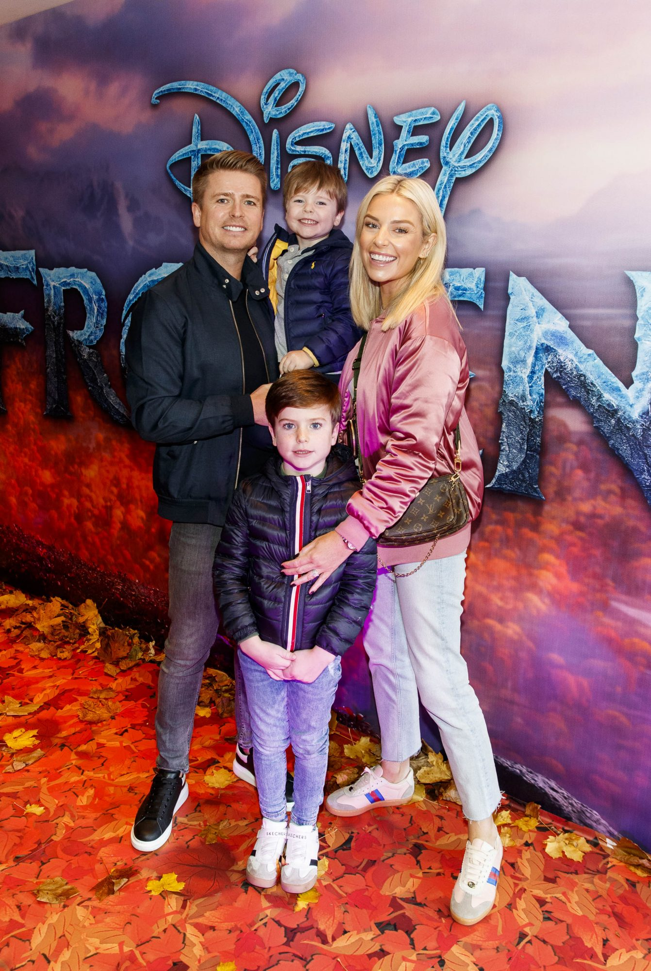 """Brian Ormond and Pippa O'Connor with sons Ollie and Louis pictured at the special preview screening of Disney's """"Frozen 2"""" at the Light House Cinema,  Dublin.  Picture Andres Poveda"""