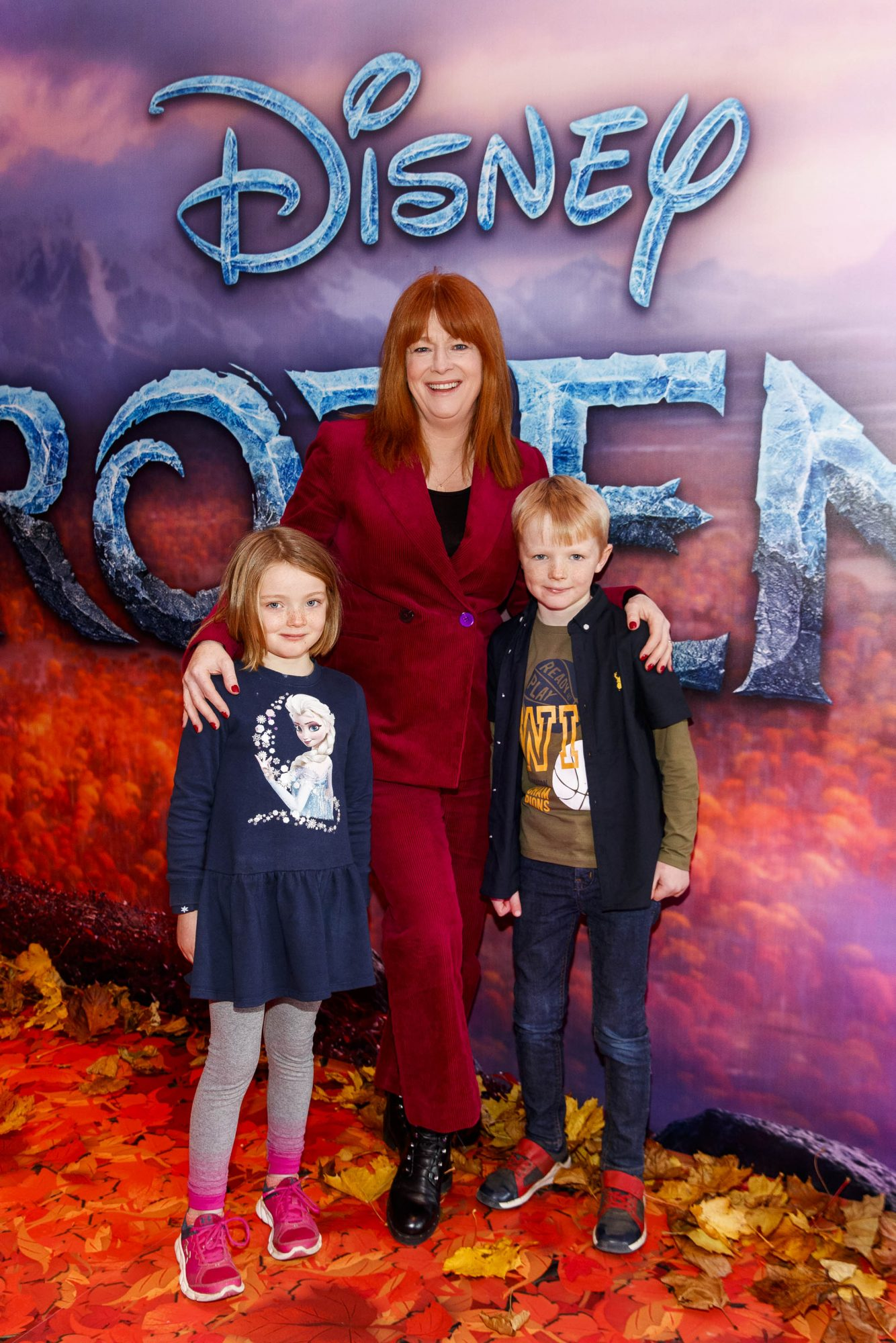 """Blathnaid Ni Chafaigh with Eithne (6) and Eamonn Sheahan (8) pictured at the special preview screening of Disney's """"Frozen 2"""" at the Light House Cinema, Dublin.  Picture Andres Poveda"""