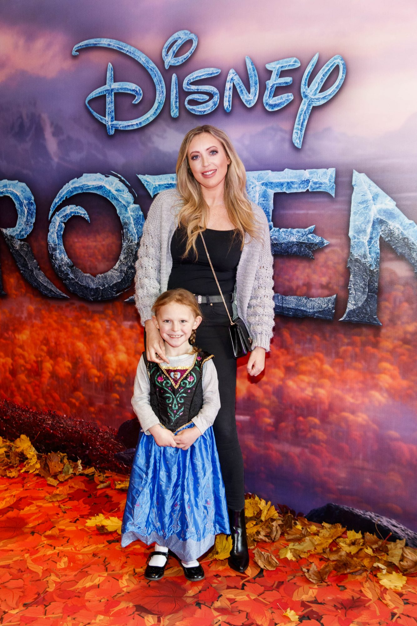 """AJ Fitzsimmons and Katie Donegan (7) pictured at the special preview screening of Disney's """"Frozen 2"""" at the Light House Cinema, Dublin.  Picture Andres Poveda"""