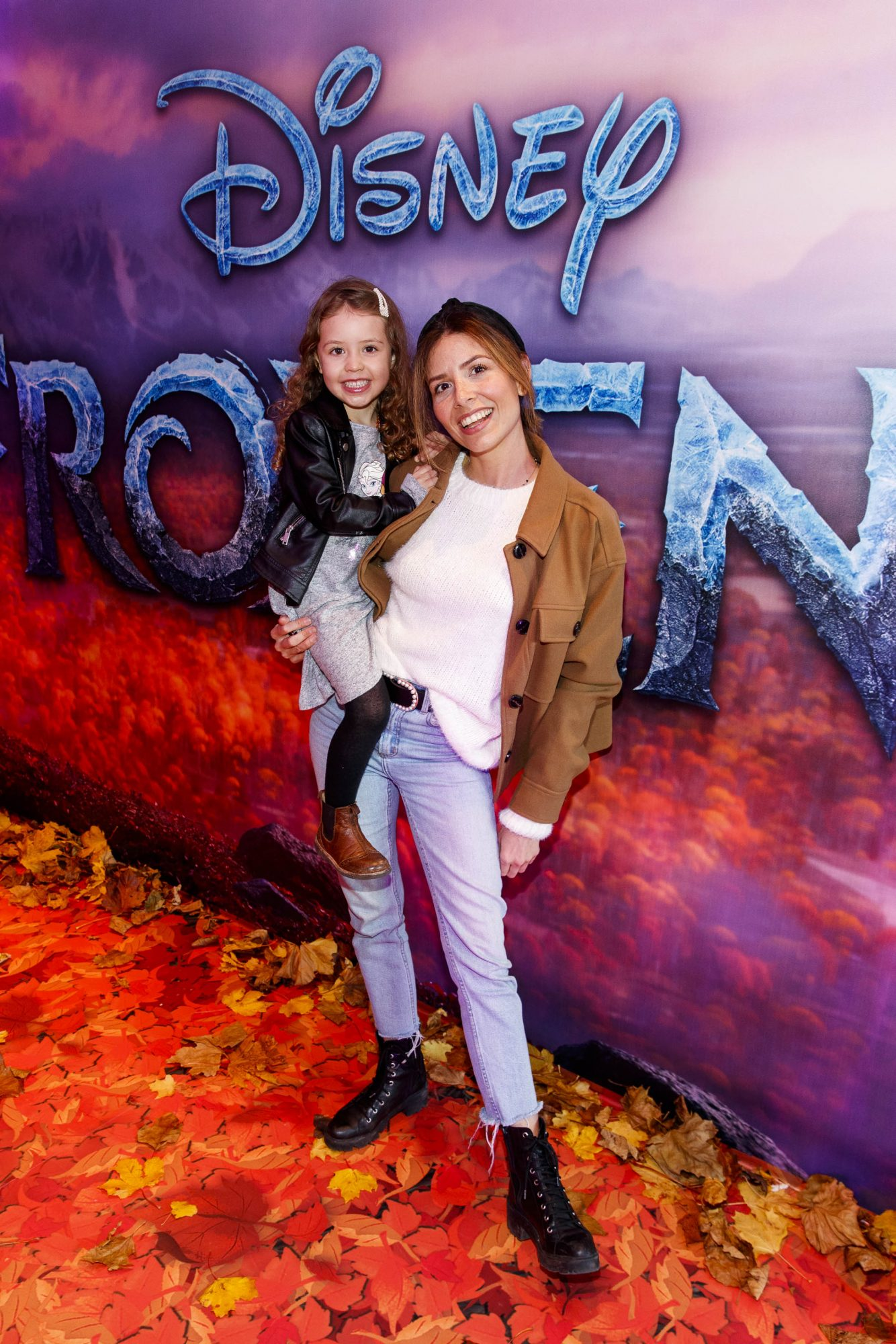 """Lottie-Rose Groenland (4) and Rosa Parozci pictured at the special preview screening of Disney's """"Frozen 2"""" at the Light House Cinema, Dublin.  Picture Andres Poveda"""
