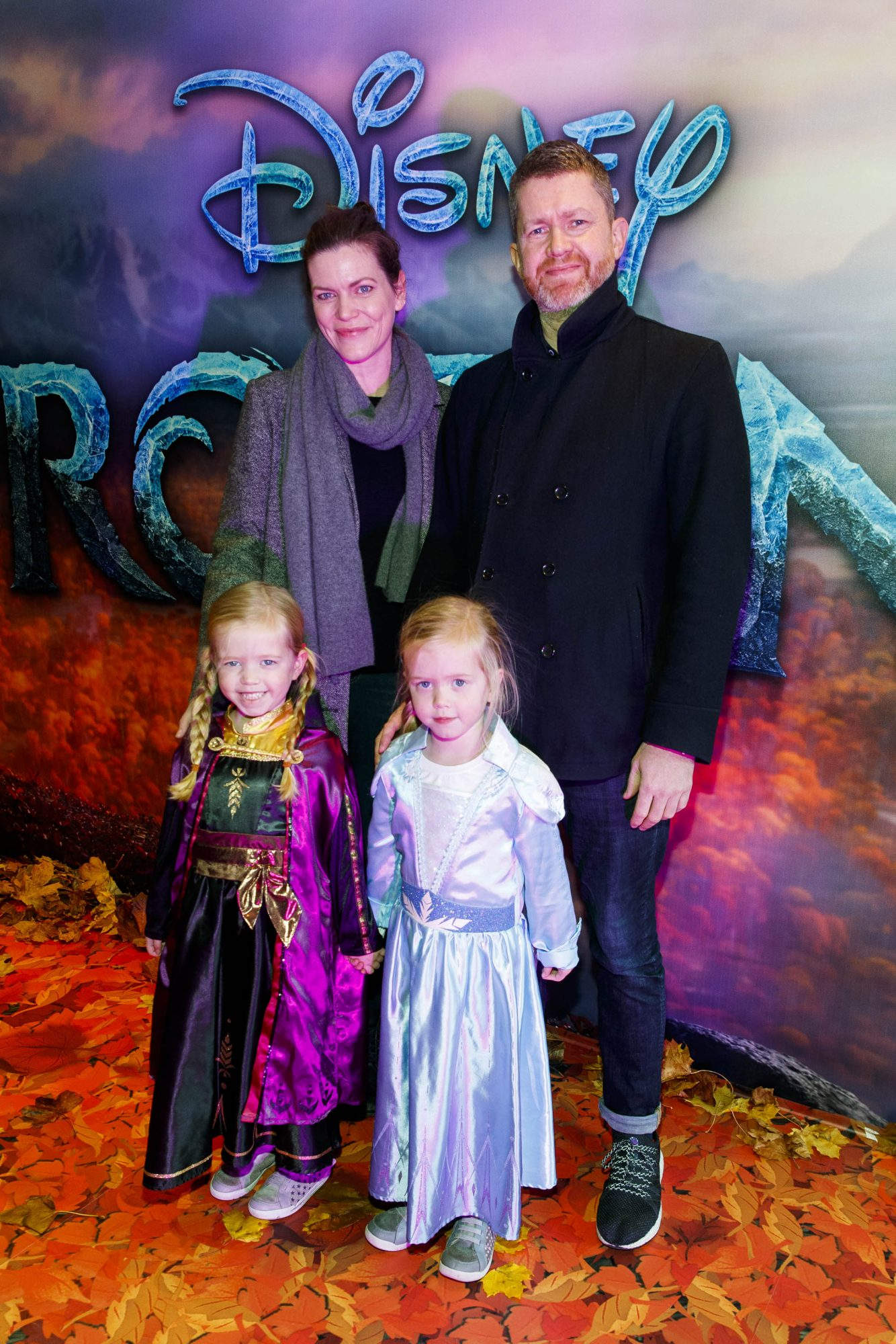 """Katherine Drohan and Scott Burnette with Kate and Panny Burnett (5) pictured at the special preview screening of Disney's """"Frozen 2"""" at the Light House Cinema, Dublin.  Picture Andres Poveda"""