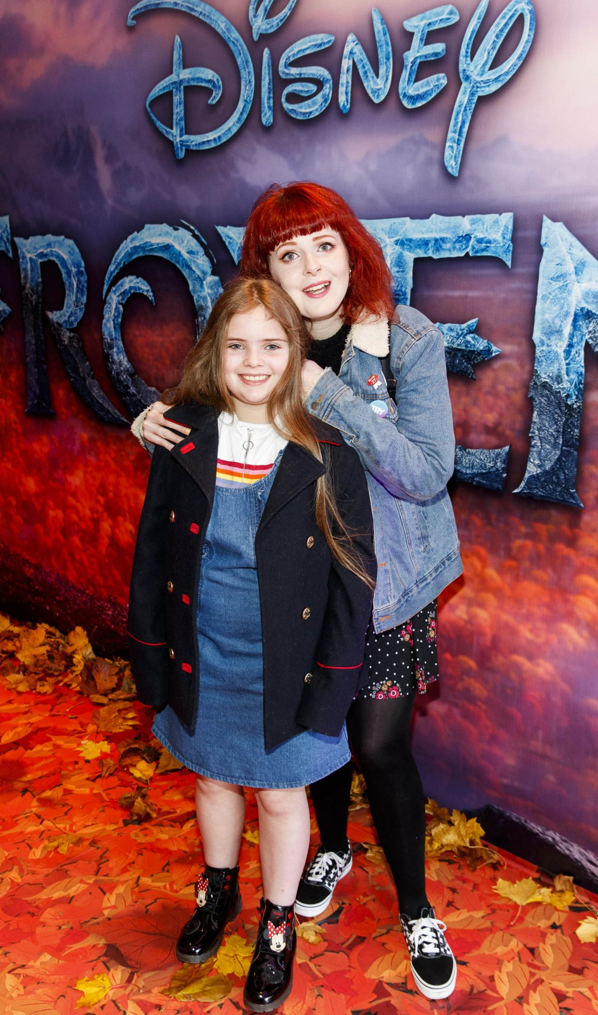 """Lolsy Byrne with Ella Confrey (9) pictured at the special preview screening of Disney's """"Frozen 2"""" at the Light House Cinema, Dublin.  Picture Andres Poveda"""
