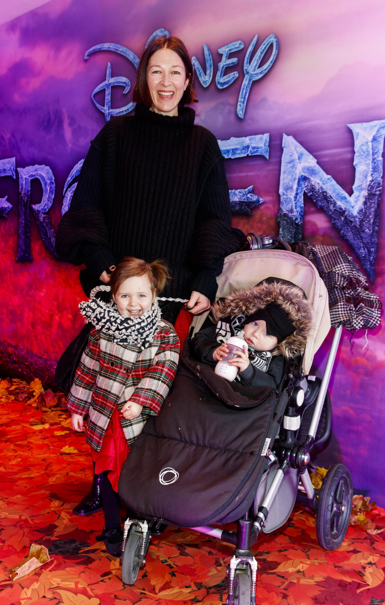 """Natalie B Coleman with Eden (3) Coleman and Odin (19mths) pictured at the special preview screening of Disney's """"Frozen 2"""" at the Light House Cinema, Dublin.  Picture Andres Poveda"""