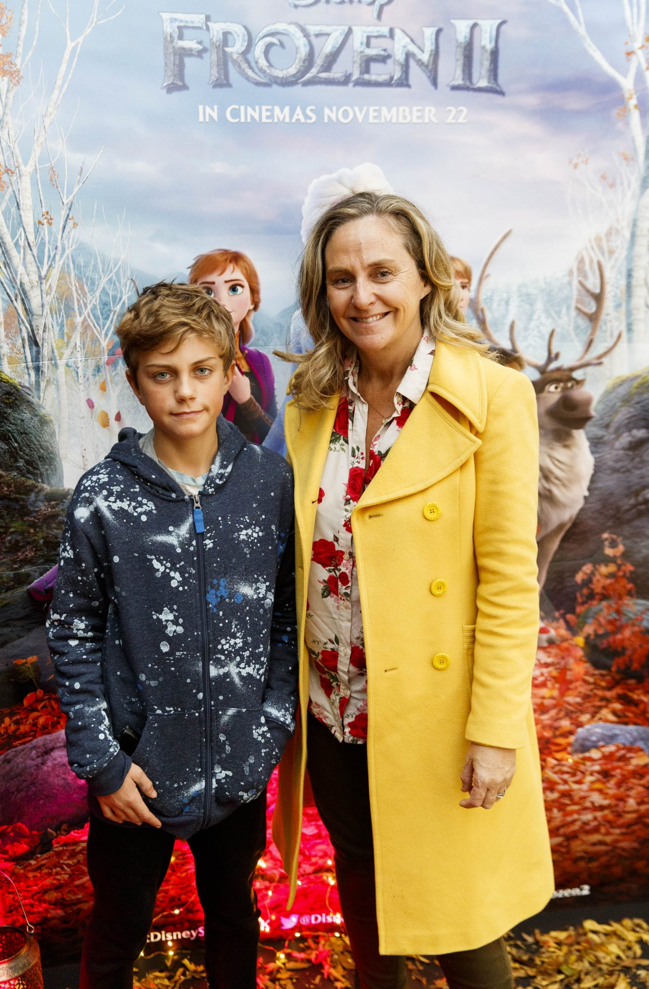 """Debbie O'Donnell  with Marcus Carroll (11) pictured at the special preview screening of Disney's """"Frozen 2"""" at the Light House Cinema, Dublin.  Picture Andres Poveda"""