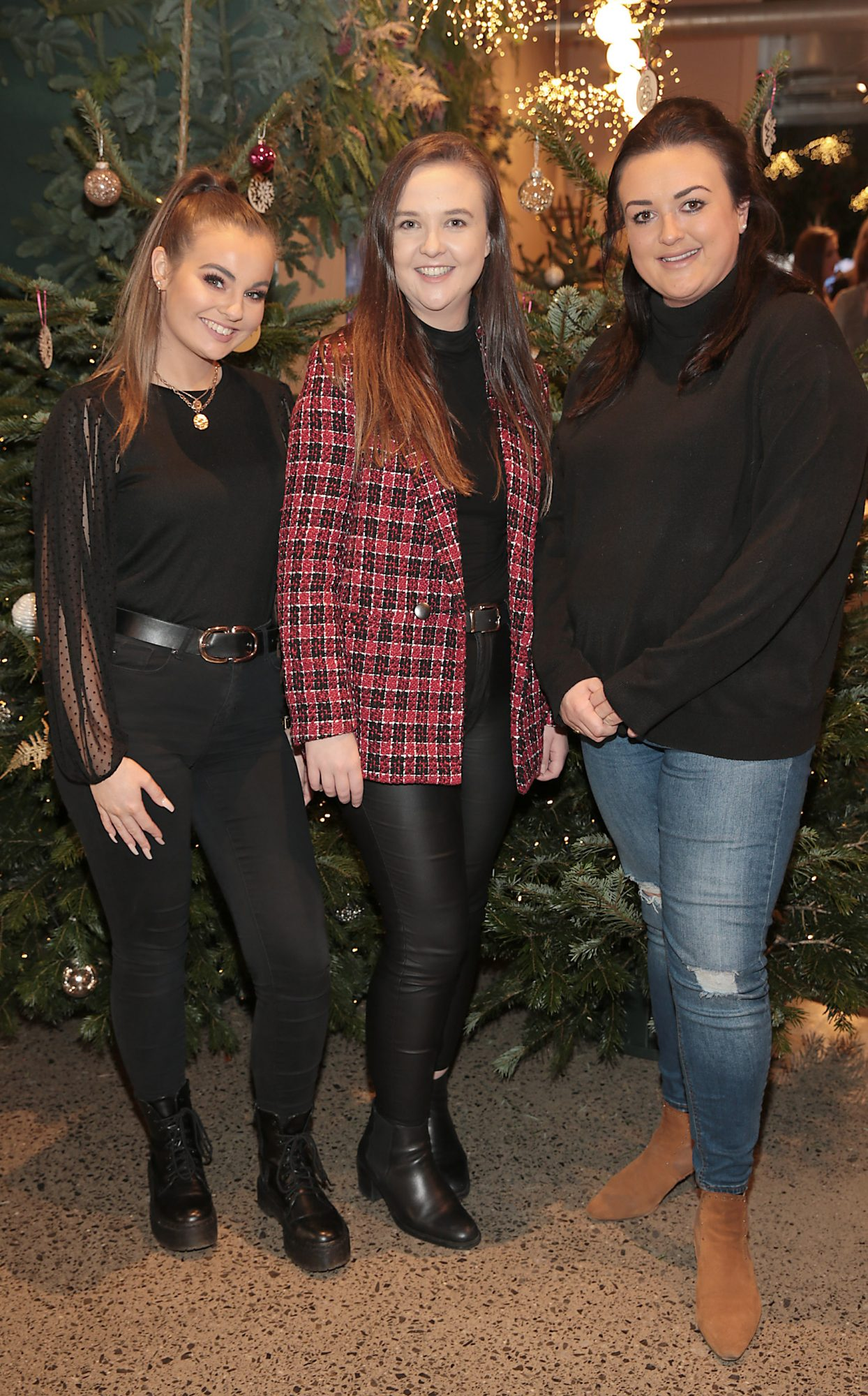 Aoife Hoverty,Therese Prendiville and and Kimberley Irwin at the opening of The Connected Restaurant, powered by Three  in Sir John Rogerson Quay Dublin Pic Brian McEvoy