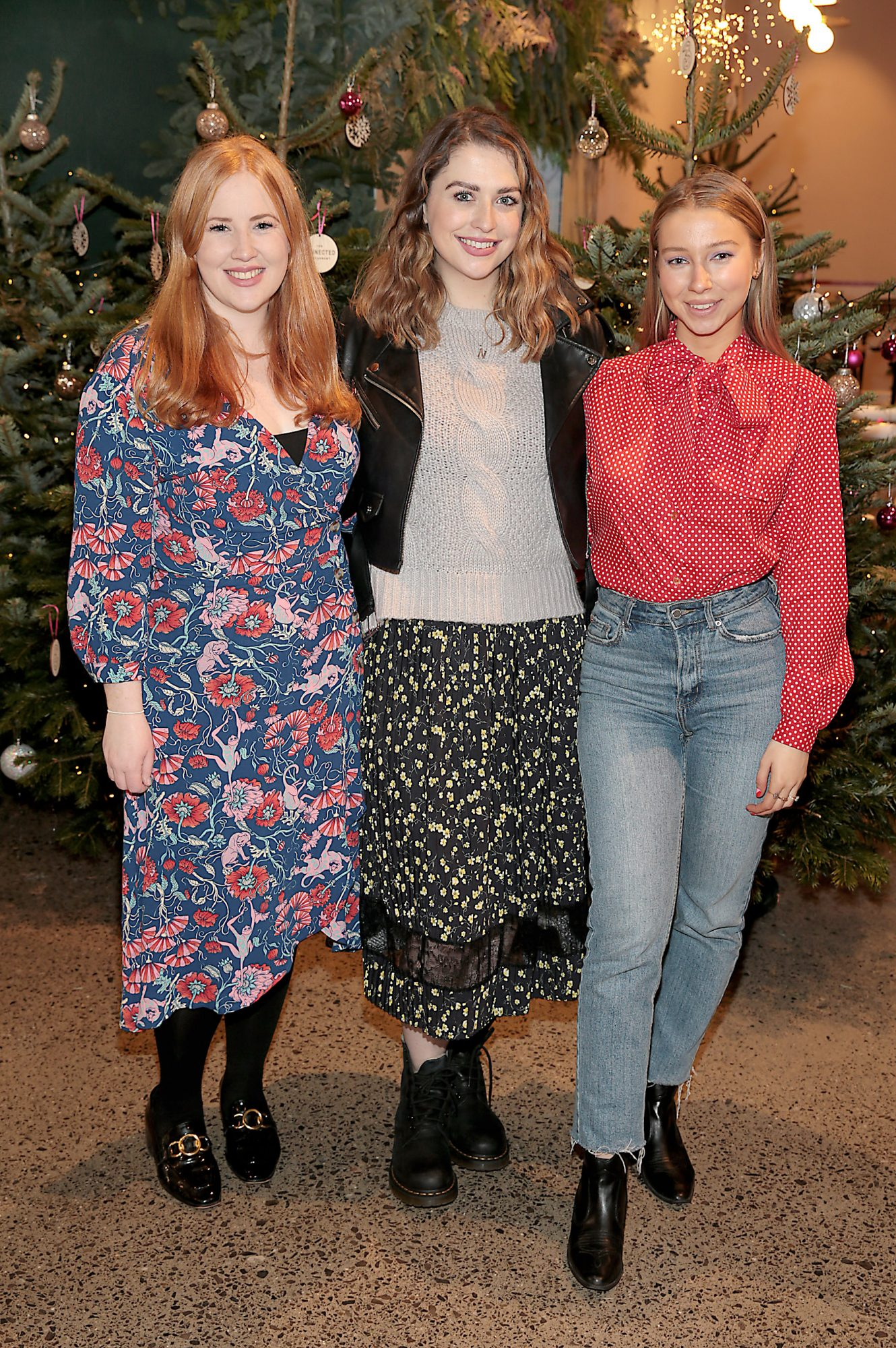 Megan Roantree ,Niamh Devereux and Adele Miner at the opening of The Connected Restaurant, powered by Three  in Sir John Rogerson Quay Dublin Pic Brian McEvoy