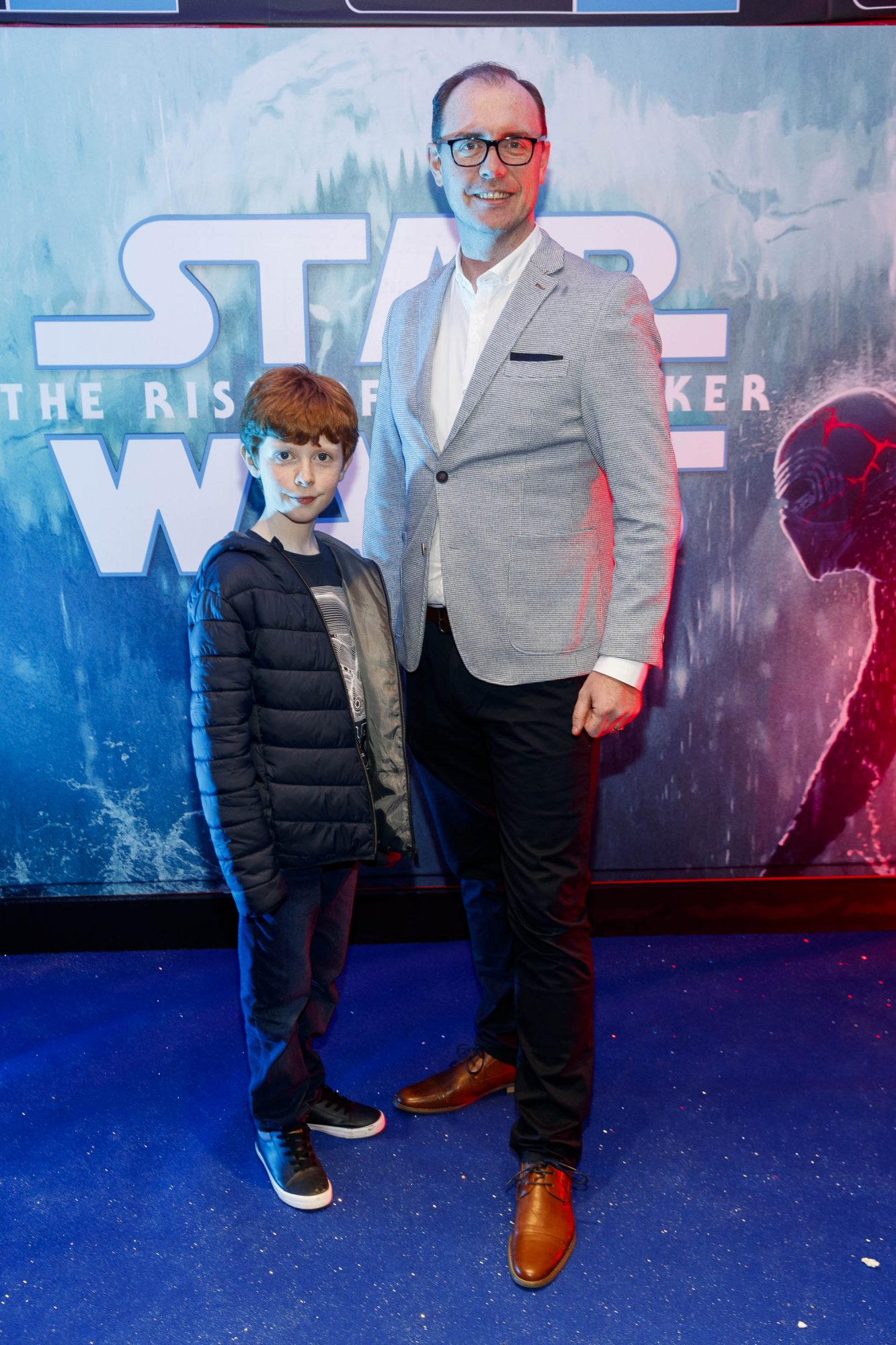 Brian Redmond and son Alex (10) pictured at the Irish premiere screening of Star Wars: The Rise of Skywalker at Cineworld, Dublin. Picture: Andres Poveda