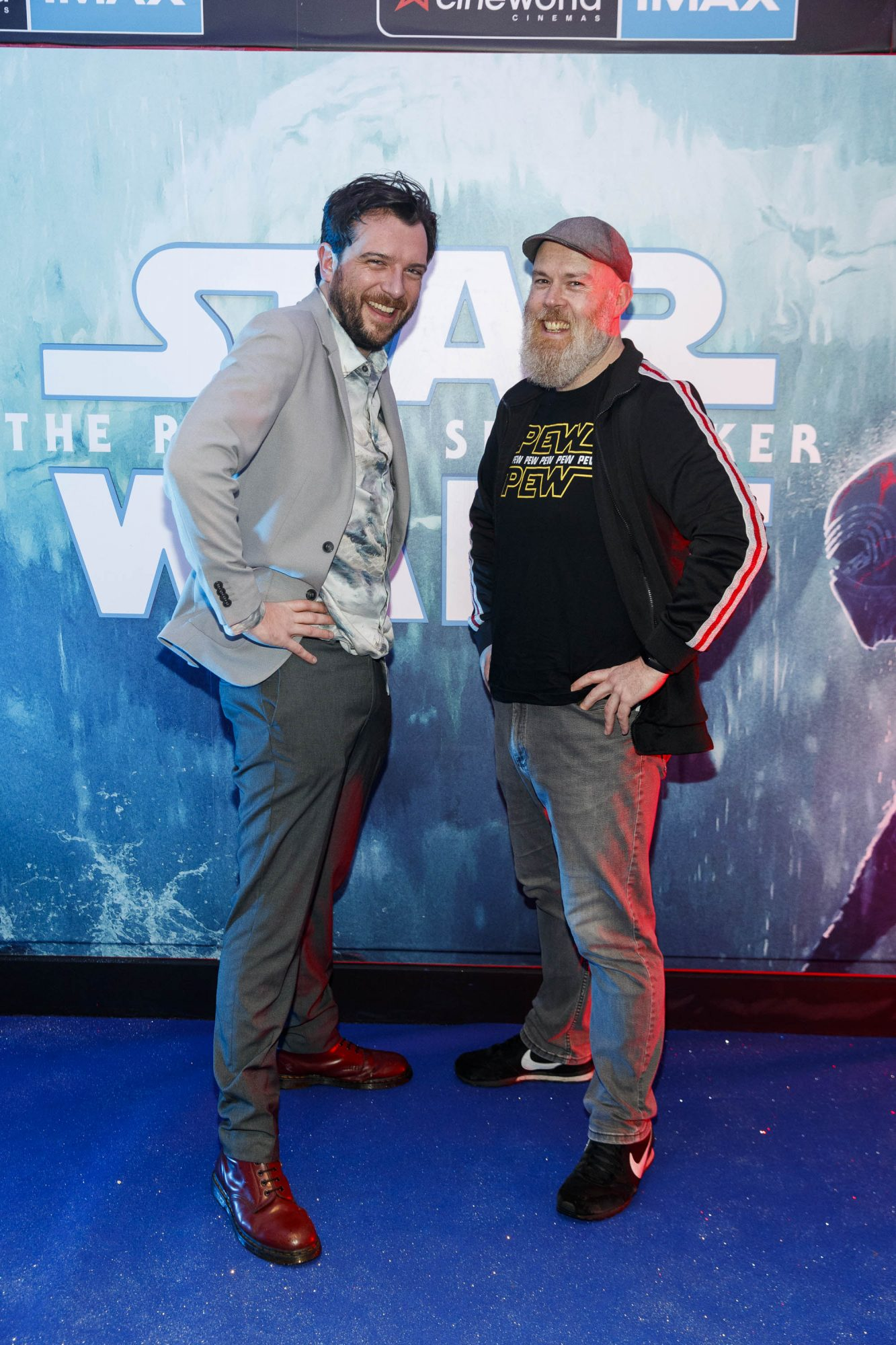 Kevin McGahern and Edwin Sammon pictured at the Irish premiere screening of Star Wars: The Rise of Skywalker at Cineworld, Dublin. Picture: Andres Poveda