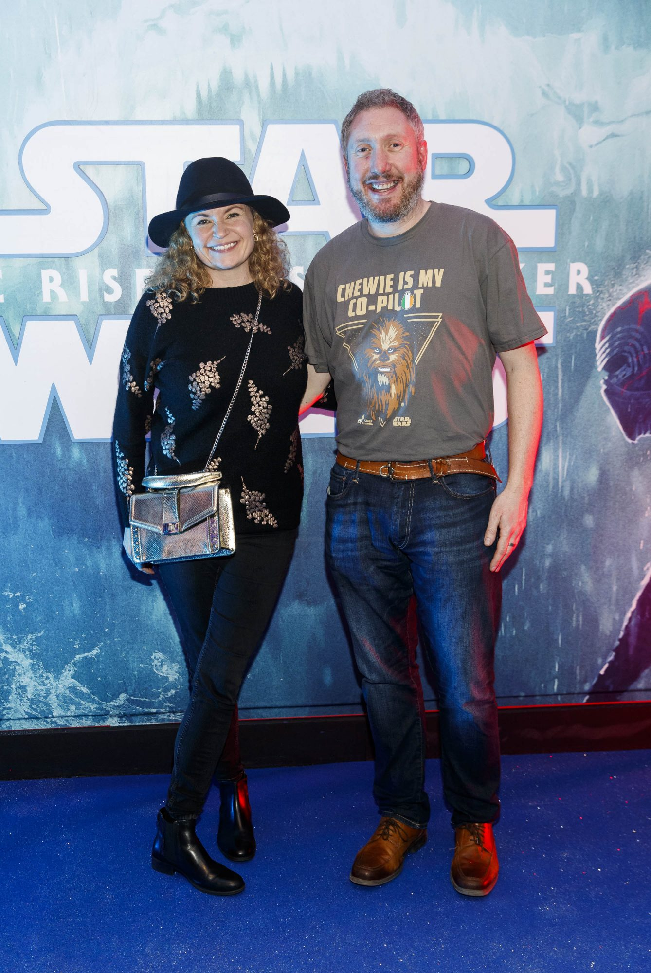 Laura McNaughton and Stephen Carey pictured at the Irish premiere screening of Star Wars: The Rise of Skywalker at Cineworld, Dublin. Picture: Andres Poveda