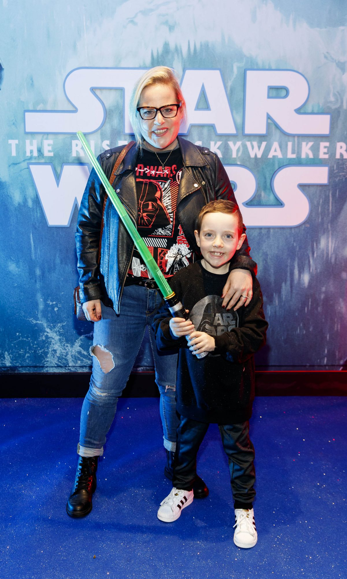 Lili Forberg and son Leon pictured at the Irish premiere screening of Star Wars: The Rise of Skywalker at Cineworld, Dublin. Picture: Andres Poveda
