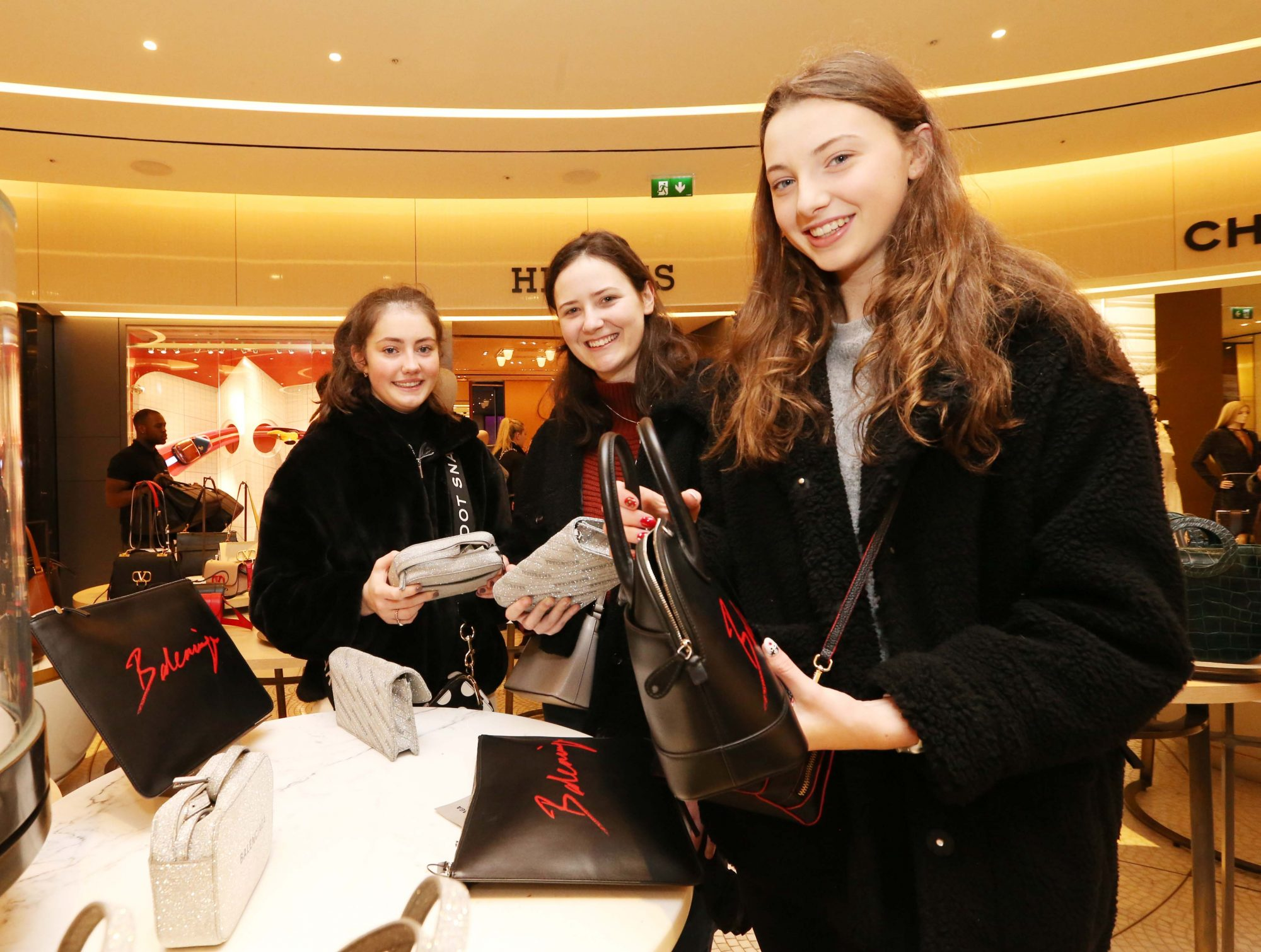 26/12/2019  Brown Thomas Sale. Pictured are (LtoR) Lily Walsh, Ciara Browne and Megan Ross from Dublin today (26th December 2019) at the highly anticipated Brown Thomas Sale.  Photo: Sasko Lazarov/Photocall Ireland