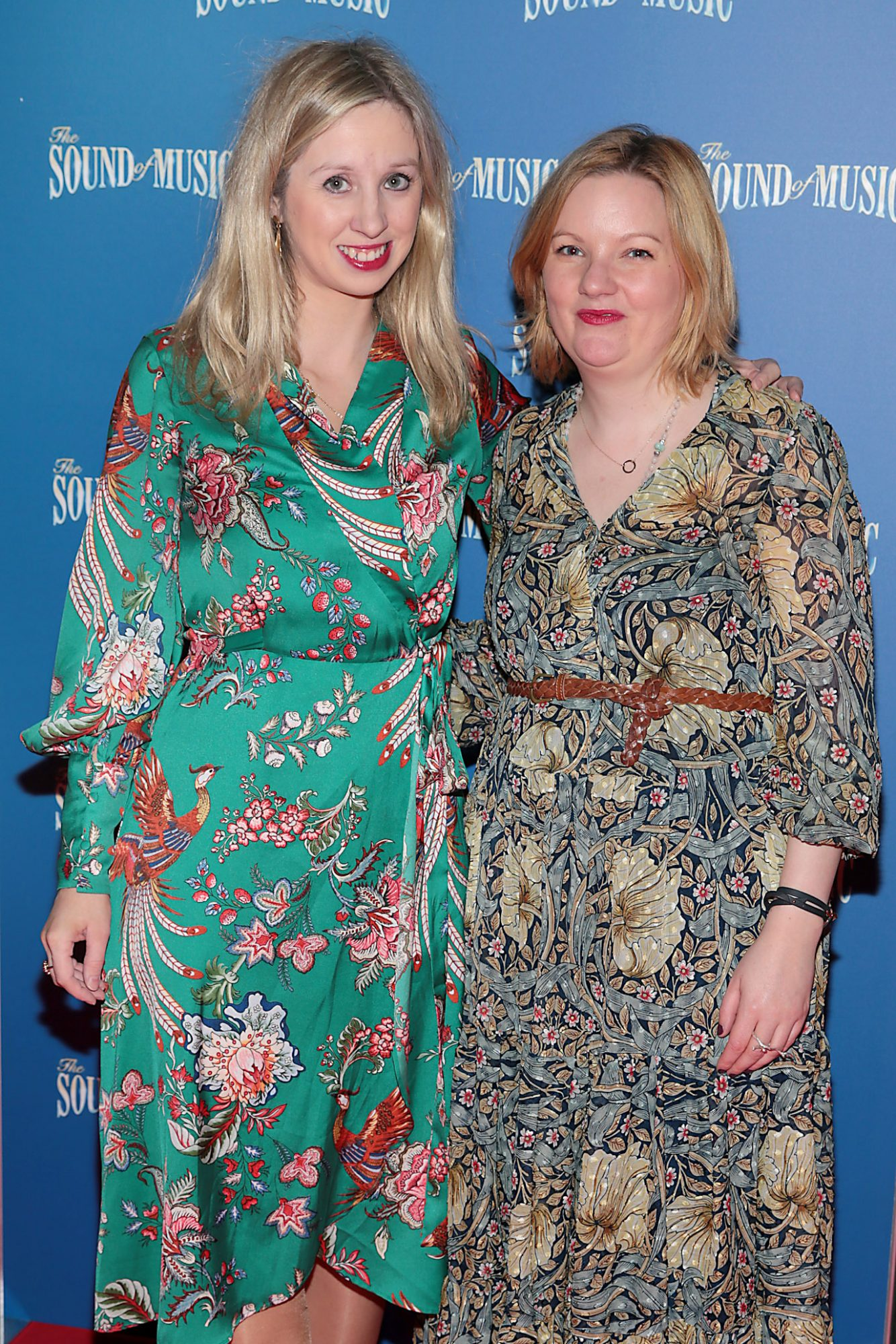 Claire Hyland and Roisin Coulter pictured at the opening night of The Sound of Music at the Bord Gais Energy Theatre,Dublin. Pic Brian McEvoy