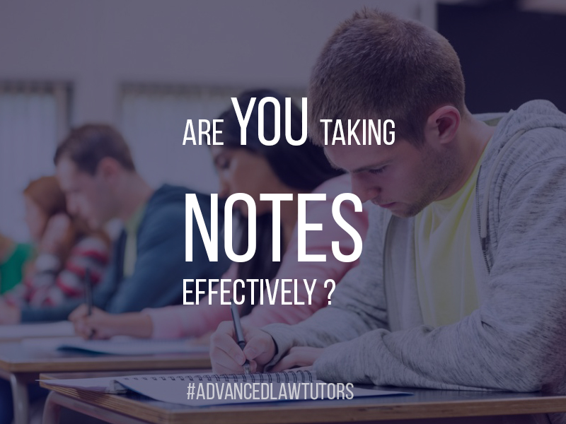 Tips on taking good law lecture notes