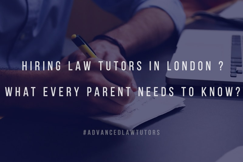 hiring law tutors in London