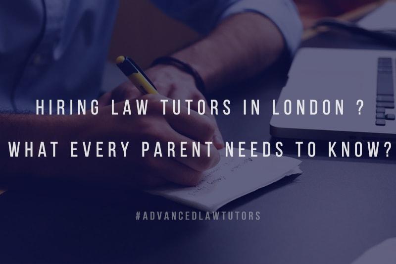 hiring law tutors in London