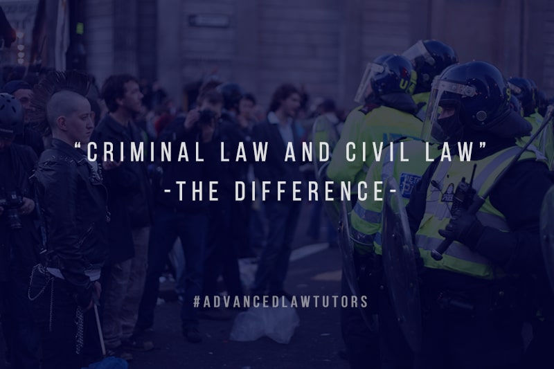 difference between criminal law and civil law