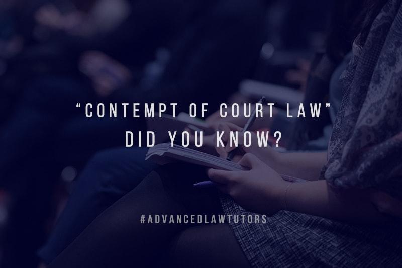 Contempt of Court Law