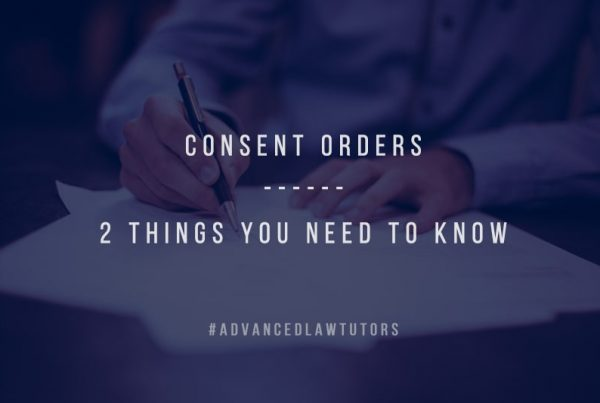 Consent Orders advanced law tutors