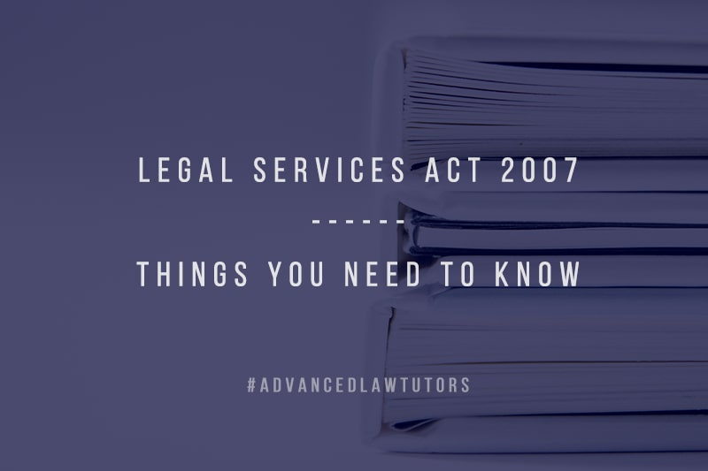 Legal Services Act 2007