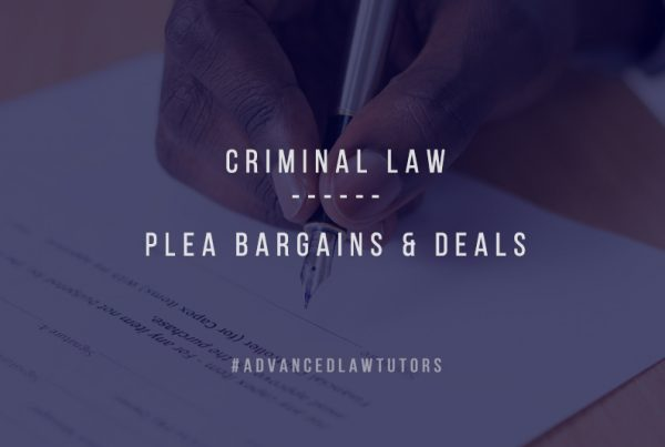 Plea bargains deals