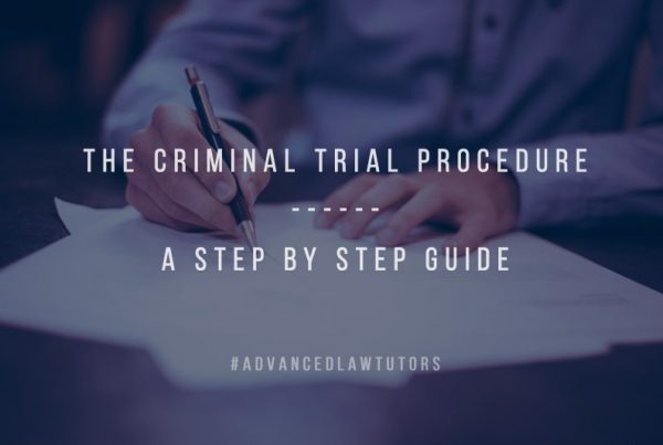 The criminal trial procedure