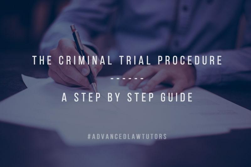 The criminal trial procedure