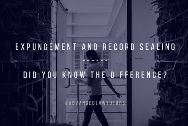 Expungement and record sealing