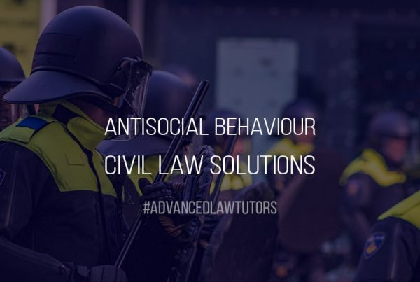 Civil Law Solutions for Antisocial Behaviour