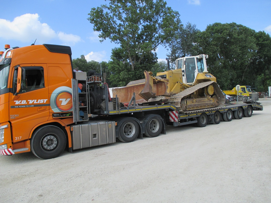 Bulldozer ready to be transported to France.JPG
