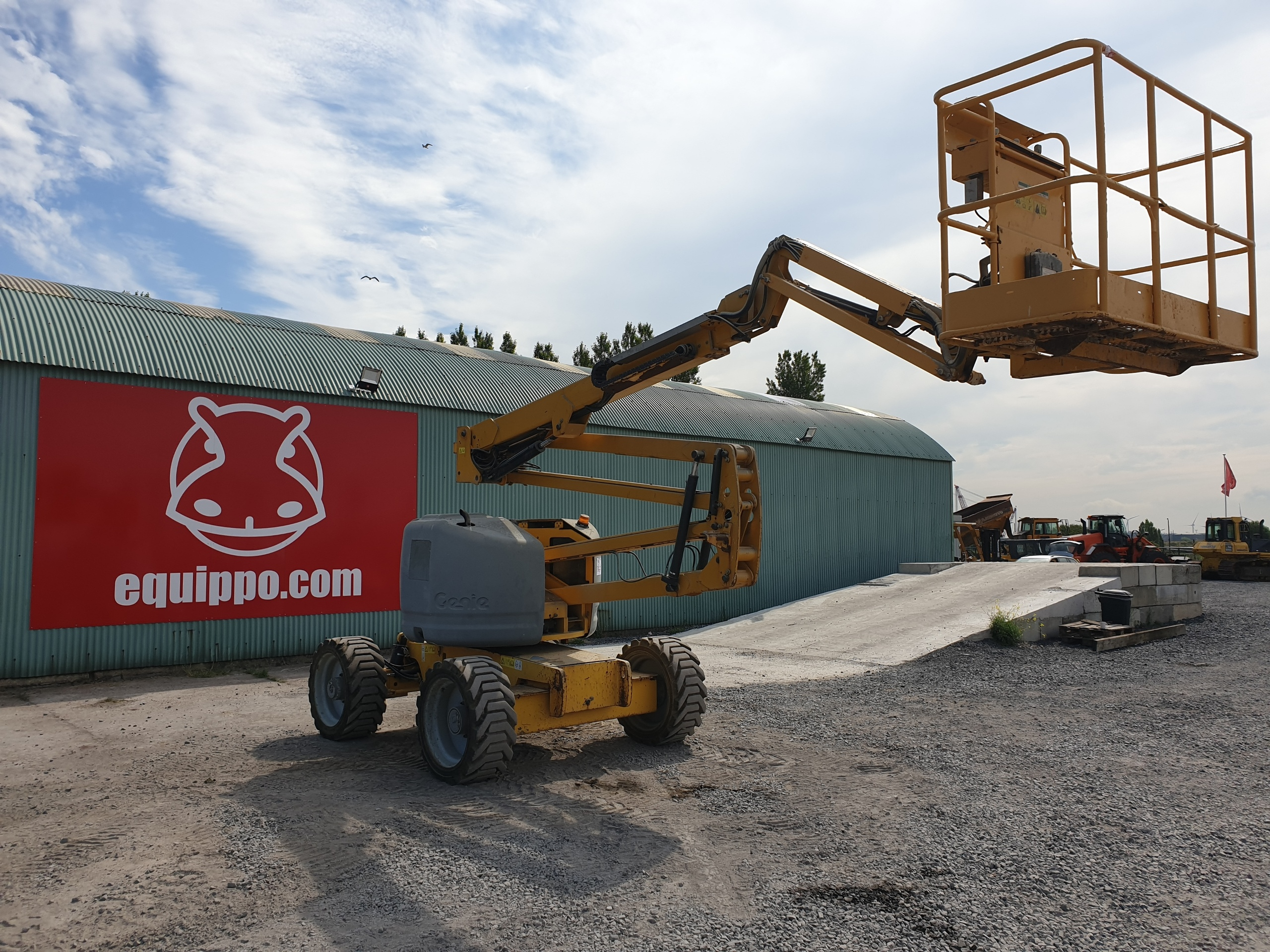 Used Articulated Boomlift at Equippo Auction's yard.jpg