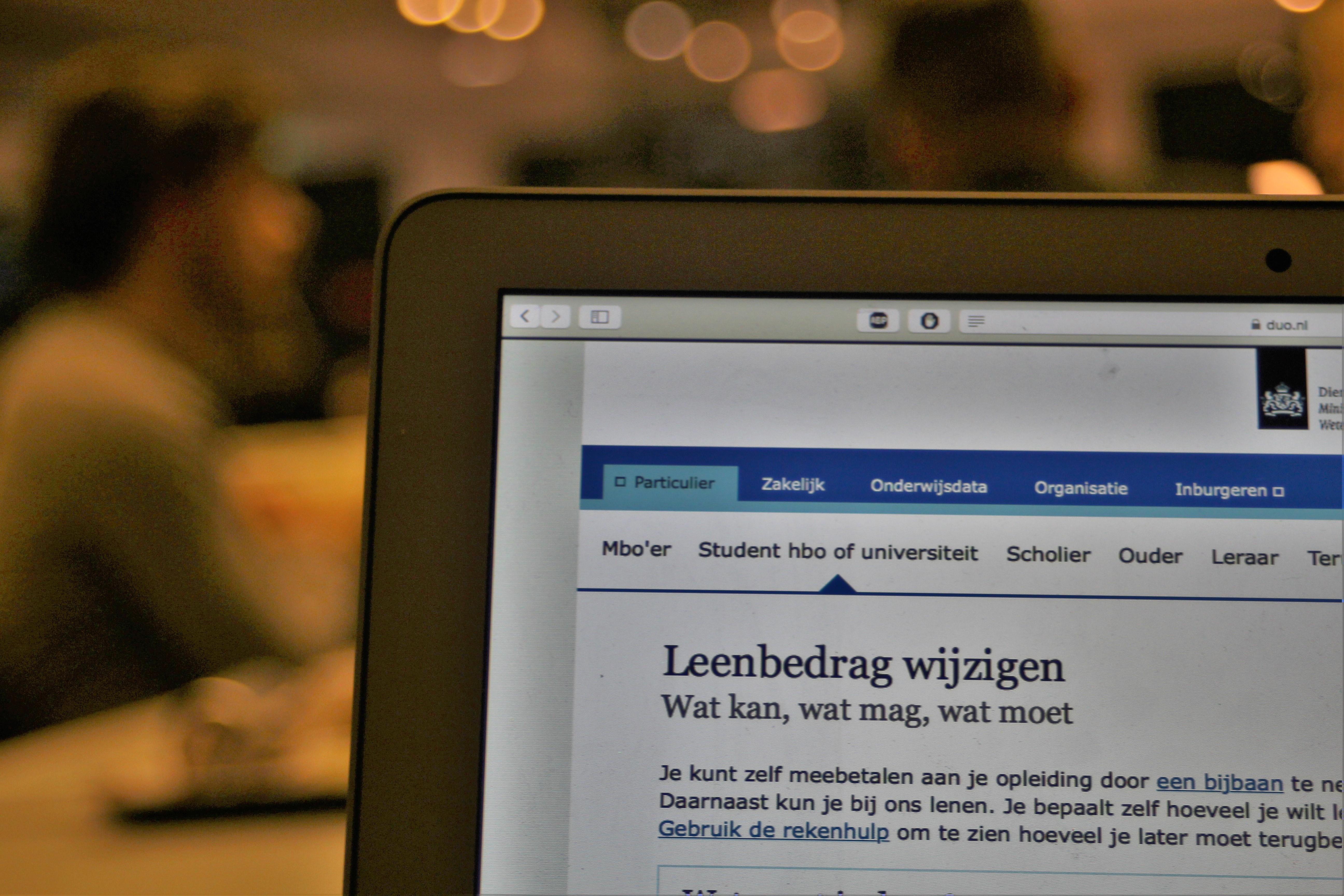 leenstelsel leenbedrag wijzigen studieschuld lening studievoorschot duo laptop