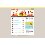 Foodzy homepage - july 2011