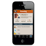Foodzy iphone app - profile