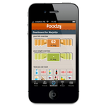 Foodzy iphone app - dashboard