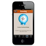 Foodzy iphone app - freshhead badge