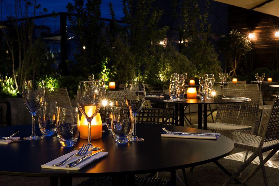 Terrass Hotel - Terrasse de nuit