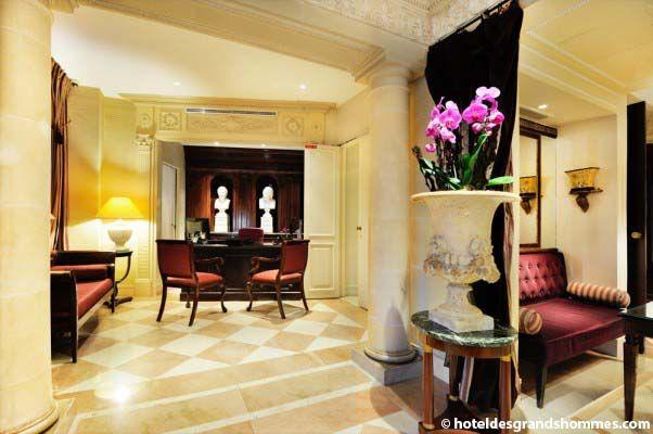 Hôtel des Grands Hommes - Les espaces intérieurs