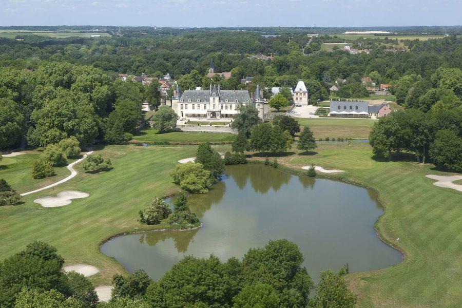 Château d'Augerville - Vue aérienne