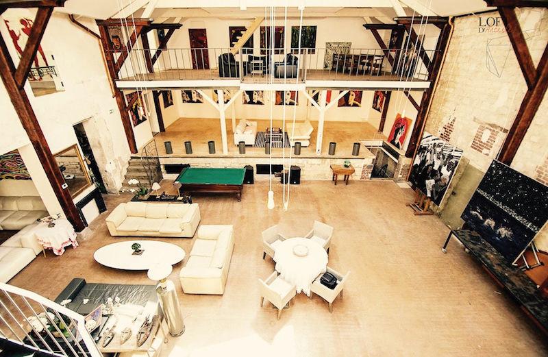 Loft D'Artiste - Vue depuis la mezzanine