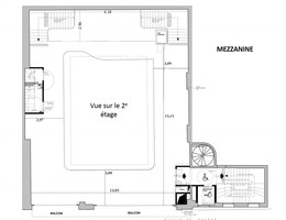 Plan salle mariage pavillon wagram mezzanine