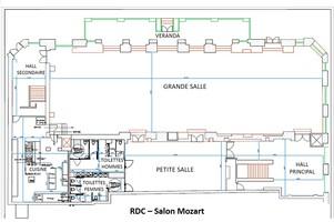 Plan salle mariage salons vianey   salon mozart rdc
