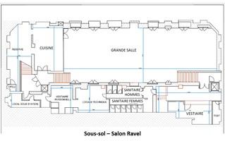 Plan salle mariage salons vianey   salon ravel sous sol