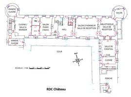 Plan salle mariage chateau de la cour senlisse   rdc
